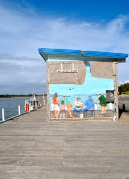 Mallacoota wharf artwork